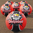 Official NDL red rubber 8.5 inch dodgeball - 6 ball set