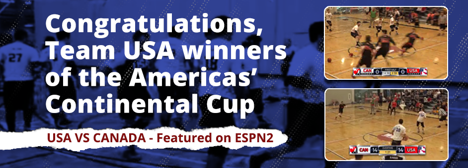 Congratulations, Team USA winners of the Americas' Continental Cup, USA vs Canada - Featured on ESPN2