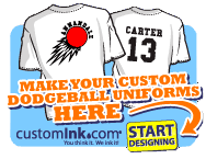 Custom Ink Dodgeball Uniforms